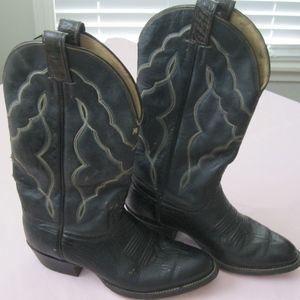 G E Boot Co. leather cowboy boots, dk brown, Sz 9